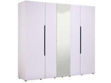 Armoire 5 portes dont 1 miroir KARL 1/3 penderie 2/3 lingère