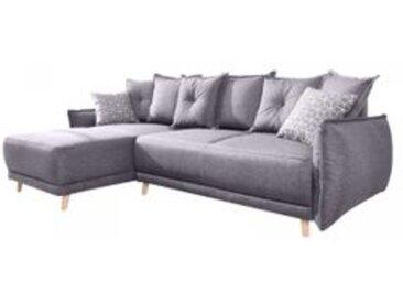 Canapé d'Angle Réversible Convertible LENA Avec Coffre De Rangement Gris Clair