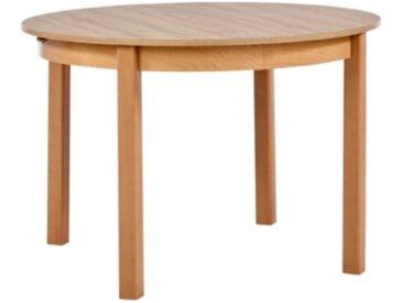 Table ronde + allonge RUBEN Noyer clair