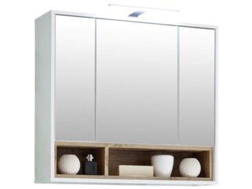 Miroir salle de bain 3 portes MAYOTTE avec LED