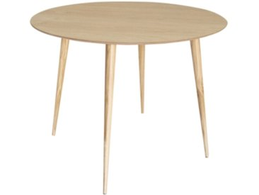 Table ronde TEMOE placage chêne