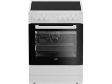 Cuisinière vitrocéramique BEKO CUV6710B 4 foyers 66L Blanc