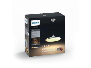 Suspension LED + télécommande CHER Blanc