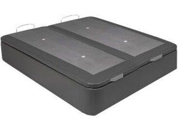 Sommier coffre 2x90x200 cm SIGNATURE LENNY PU gris