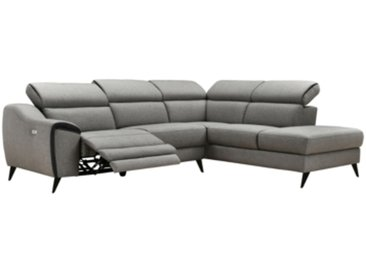 Canapé d'angle droit relax MARIUS Tissu gris clair