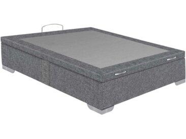Sommier coffre 140x190 cm SIGNATURE MAXIBOX gris chiné