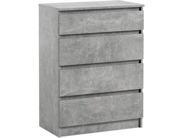 Commode 4 tiroirs Pari 4 grise 97 x 70 x 40 cm