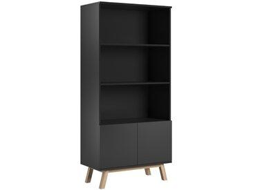 Meuble bibliothèque VERO noir mat