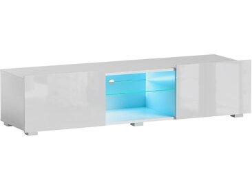 Meuble TV Focus II blanc brillant 43 x 150 x 35 cm