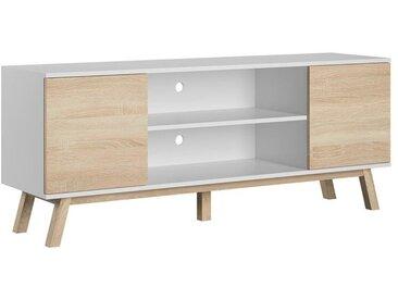 Meuble TV Vero chêne sonoma et blanc 150 cm