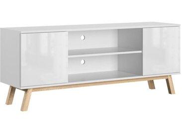 Meuble TV Vero blanc brillant 150 cm