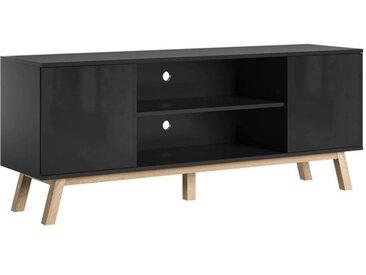Meuble TV Vero noir brillant 150 cm