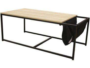 Cybele - Table Basse Rectangulaire avec Porte-Revues