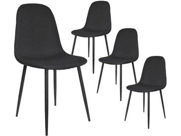 Stacy - Lot de 4 Chaises Scandinaves Noires