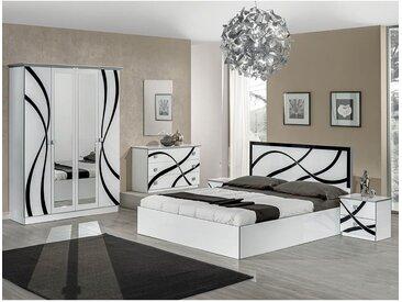 Sylla - Chambre Complète avec Lit 160x200cm