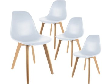 Melya - Lot de 4 Chaises Scandinaves Blanches