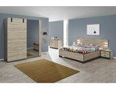 ELEOS - Chambre Complète 180x200cm avec Armoire 188cm