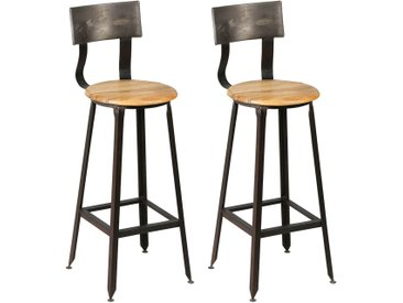 Indus - Lot de 2 Tabourets de Bar Industriel