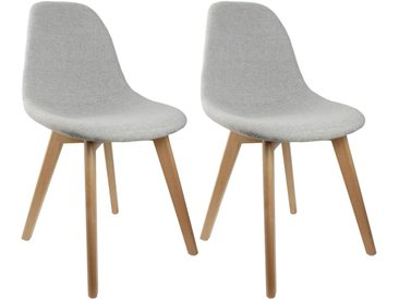 Medyna - Lot de 2 Chaises Scandinaves Grises