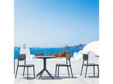 Chaise de jardin en polypropylène micro perforé - Lucy