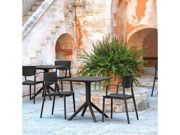 Chaise de jardin micro perforée avec accoudoirs - Loft