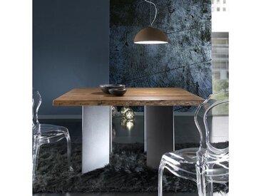 Table carrée industrielle pour salle à manger - 14.00