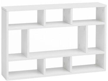 Étagère murale blanc design en panneaux de particules mélaminés de haute qualité  L. 75 x P. 16 x H. 51 cm collection C-Louis