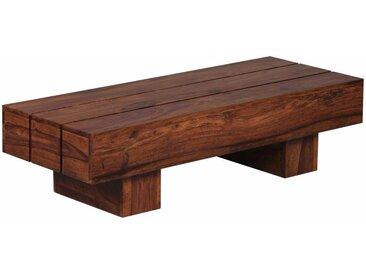 Table basse contemporaine 120 x 45 cm en bois massif sheesham collection C-Hasu