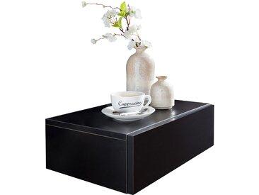 Table de nuit noir design coloris noir avec 1 tiroir L. 46 x P. 30 x H. 15 cm collection C-Seyyid