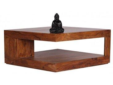 Table basse carrée 90 x 90 cm en bois massif de sheesham collection C-Hasu