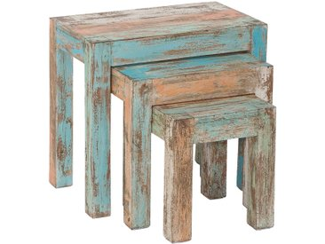 Ensemble de 3 tables gigognes en bois massif collection C-Atsue