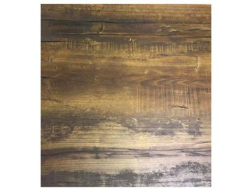 Extra LYC-9087-60 Plateau stratifie HPL 60x60 cm chant 40mm couleur chene fonce