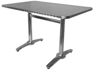 E-xtra TRA-18C120X70 Table terrasse rectangulaire alu/inox