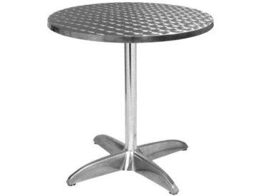 E-xtra TRA-43R70 Table terrasse alu/inox diam.70cm