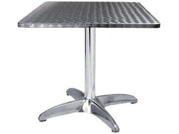 E-xtra TRA-43C70 Table terrasse alu/inox 70x70 cm