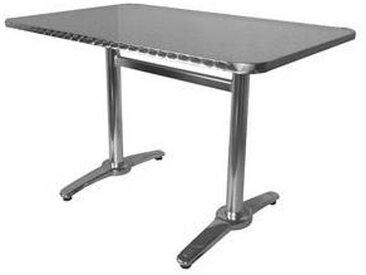 e xtra TRA-18C120X70 Table terrasse rectangulaire alu/inox