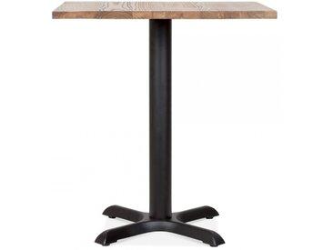 Galant Table Carrée de Café - Noir / Finition Naturel 70cm