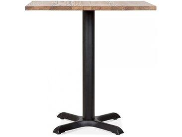 Galant Table Carrée de Café - Noir / Finition Naturel 80cm