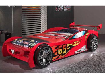 Lit voiture 246,6x111x66 cm rouge