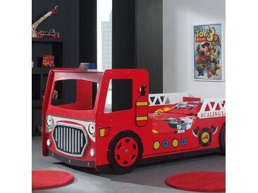 Lit camion de pompier 90x200 cm rouge - FIRE