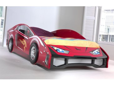 Lit voiture de course 90x200 cm rouge - CARINO