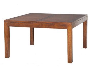 Table carrée avec allonge 140/50 cm en bois - VOTARA