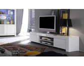 Banc TV design laqué blanc - Naomi