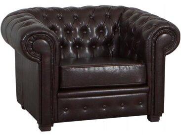 Fauteuil design Chesterfield - Lerwick - Marron 906