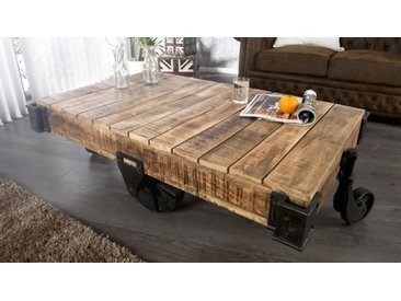 Table basse industrielle en bois - Harry