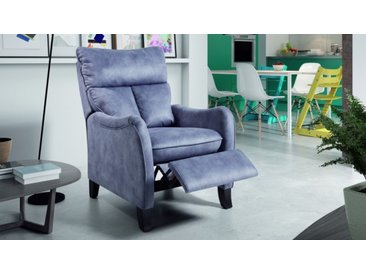 Fauteuil de relaxation tissu - Avanos - Microfibre bleu 567