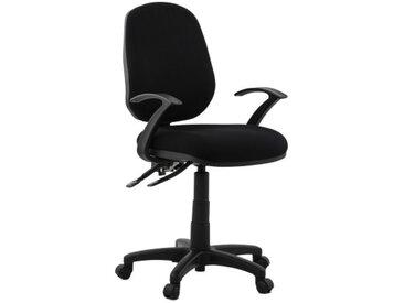 Chaise de bureau design en tissu noir - Finn