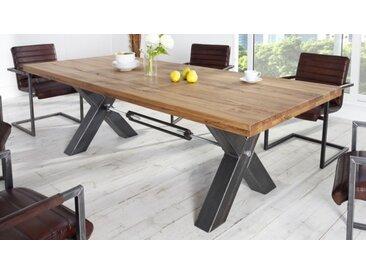 Table industrielle à manger rectangle - Jack - 200 x 100 cm