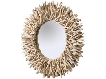 Miroir design rond bois flotté - Roy