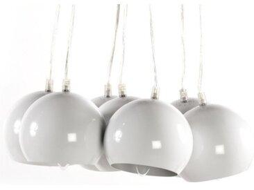 Lustre moderne à 7 suspensions - Bilbao - Blanc